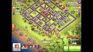 Clash of Clans Barbaren und Bogen lvl 7 #Live Angriff