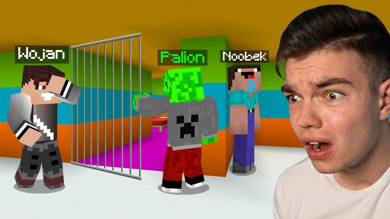 NOOBEK UCIEKŁ Z PRZEDSZKOLNEGO WIĘZIENIA GDY JA I WOJAN NIE PATRZYLIŚMY w Minecraft...