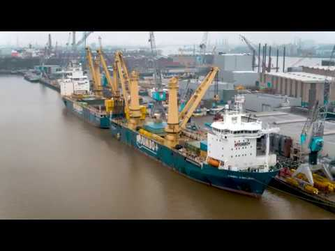 Our MV Fairplayer and Jumbo Jubilee together at the Broekman Terminal in Rotterdam