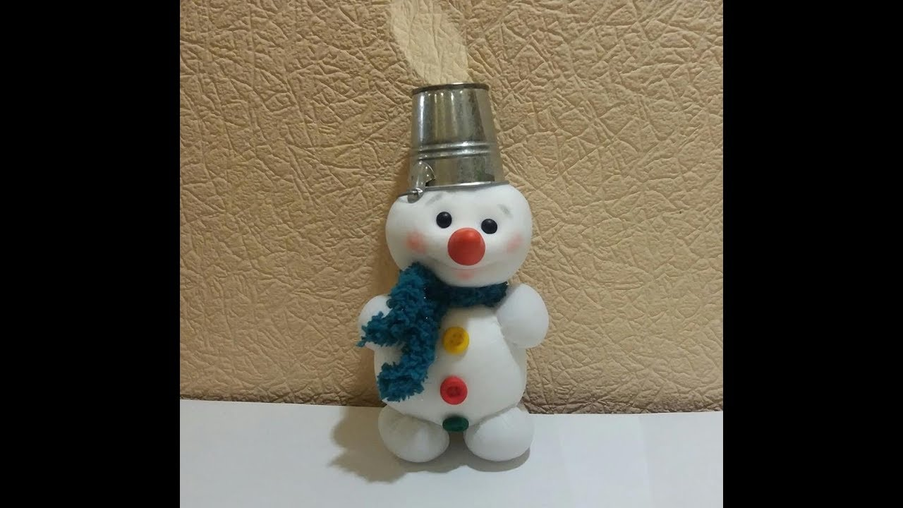 Снеговик из меха своими руками фото 873