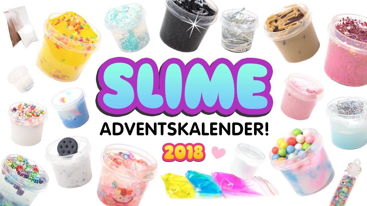 SLIME Adventskalender 2018 😱für einen Fan! 24 DIY SCHLEIM ...