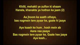 Ae Kaash ke Hum Hosh Mein ab Aane Naa Paayein