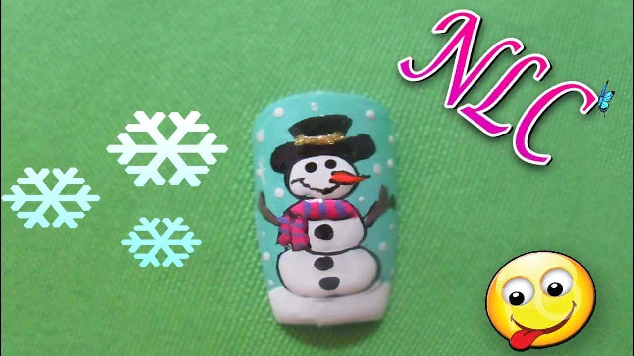 Decoración De Uñas Muñeco De Nieve - Navidad Nail Art - Christmas ...