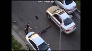 04/05/2016 Compton, CA Police Chase LAPD 2016 - Black GTA Suspect - The Hood Confronts Cops