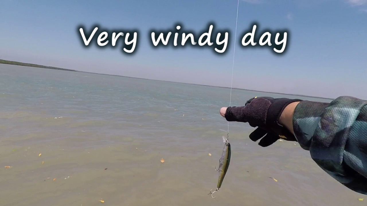 Need a heavier lure on a very windy day - YouTube