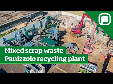 Metals recovery from mixed scrap waste - Panizzolo recycling
