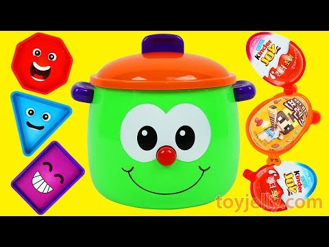 Preschool & Toddler Learning Toy LEARN COLORS & LEARN SHAPES Fun Pot Kinder Joy Surprise Egg Toys