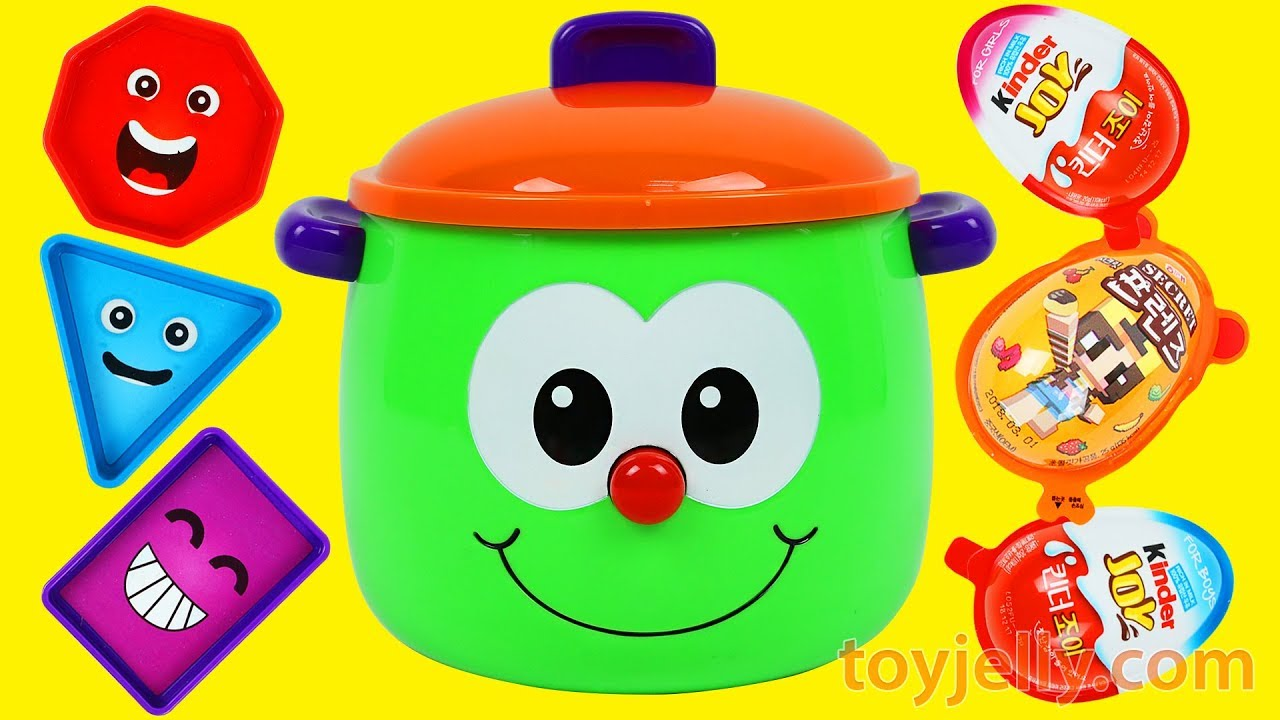 Preschool & Toddler Learning Toy LEARN COLORS & LEARN SHAPES Fun Pot ...