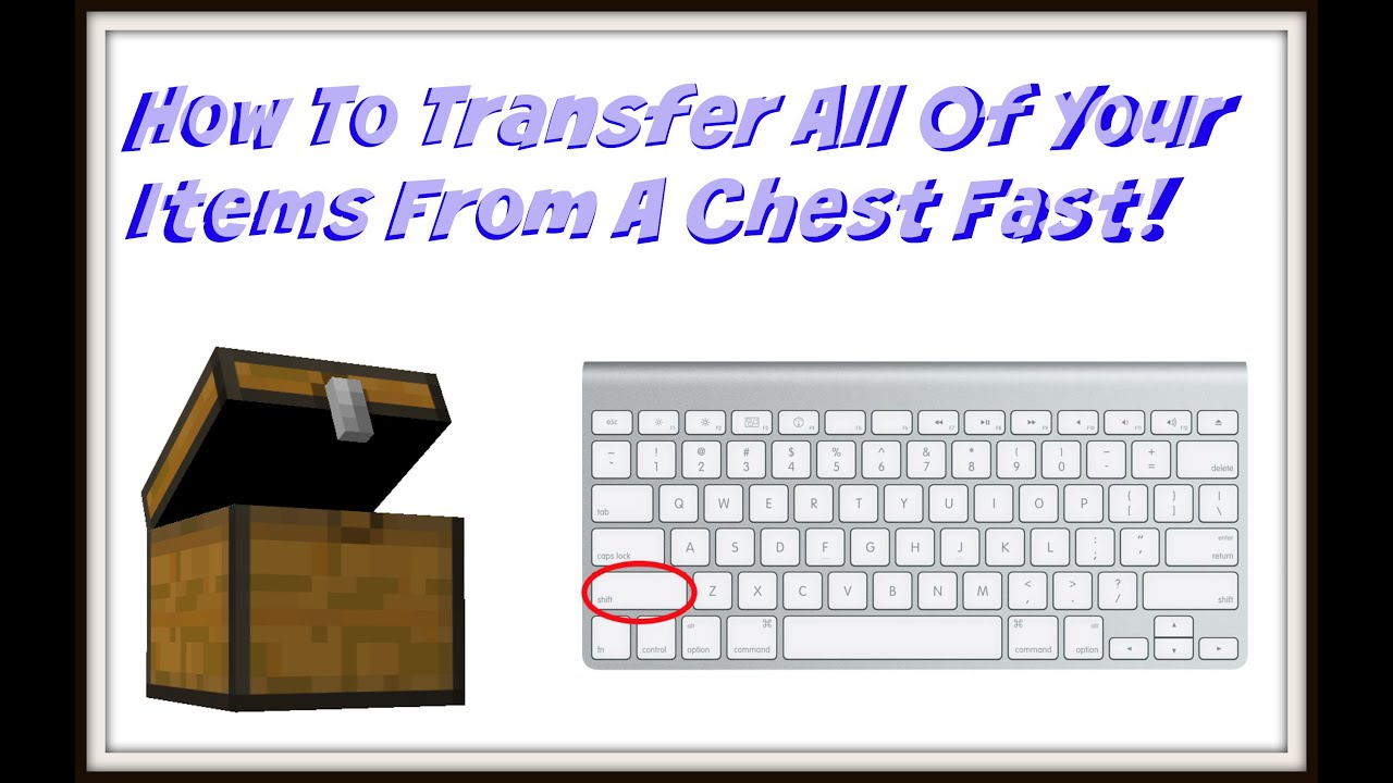 Minecraft How To Drop All Items From A Chest Into Your Inventory Fast!