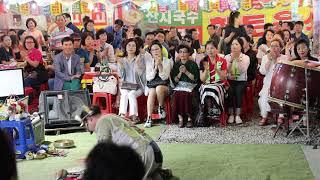 양푼이품바 건강기원 축원 광대 즐거운 음식점 빽댄서 언니들 일산 해수욕장 0713