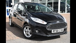 Used Ford Fiesta 1.0 EcoBoost Zetec 5dr Shadow Black 2017