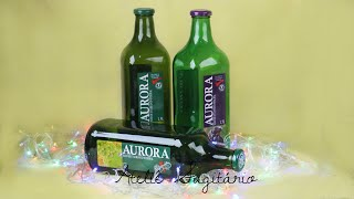 Decoración navideña con botellas