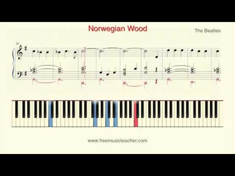 "How To Play Piano: The Beatles Norwegian Wood"" Piano Tutorial by Ramin Yousefi"