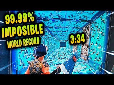 🌎 🏆😱 WORLD RECORD PARKOUR FORTNITE 😱🏆🌎  PISTA 99.99% IMPOSIBLE