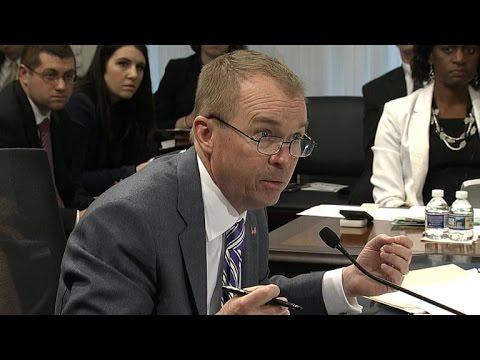 President Trump's budget director speaks to Congress
