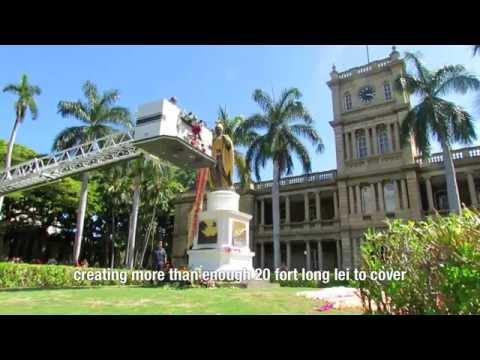 2014 Kamehameha Day Lei Draping