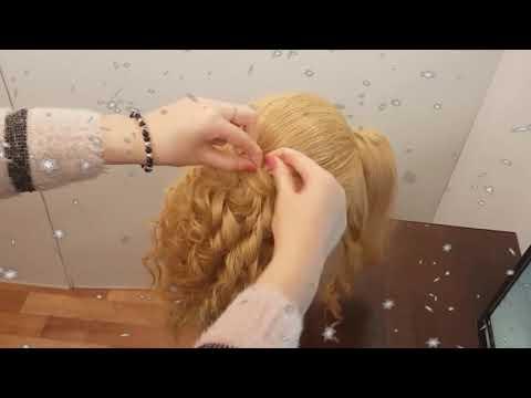 прическа объемные локоны на плойку жгуты из локонов на распущенные волосы причёска на новый 2020 год