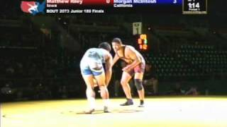 Junior Freestyle Finals 189 pounds - Morgan McIntosh vs. Matthew Riley