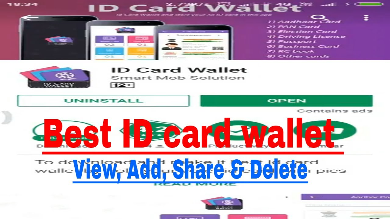 Id Card Wallet Or Id Proof Wallet Best Mobile App To Save Your
