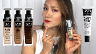 CAN'T STOP? NYX Can't Stop Won't Stop Primer & Foundation: Application & Wear Test