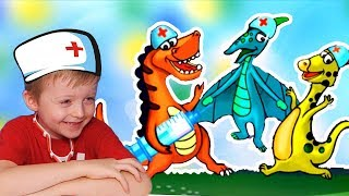Доктор ДИНО Детский Доктор для Динозавров Детское Видео про Динозавров Lion boy