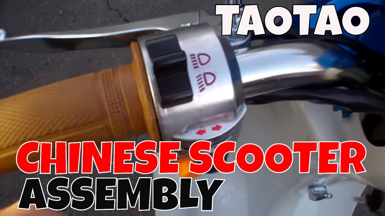 How To Assemble A Taotao Scooter Cy50 B Youtube Tao Vip 50cc Wiring Diagram