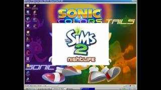 Installing The Sims 2 NightLife on Windows XP Media Center 2005 SP3.mp4