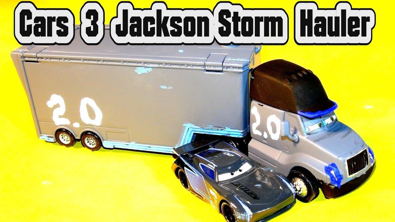 Pixar 3 Cars Jackson Storm Hauler And Next Gen Lightning Mcqueen