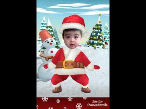Baby dancing Santa Claus