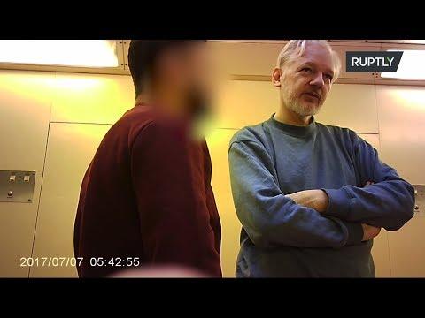 Эксклюзивные кадры Джулиана Ассанжа в британской тюрьме