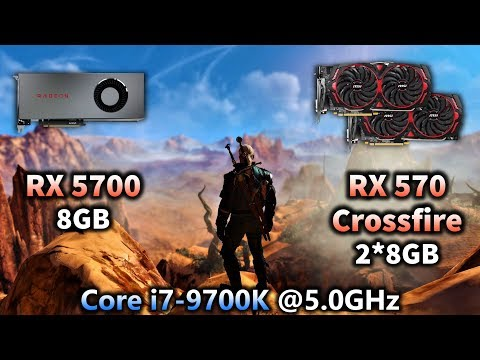 Radeon RX 5700 8GB vs RX 570 Crossfire 2*8GB (Only Supported Games) | Tested in 7 PC Games