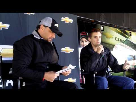 Interview with James Buescher in Phoenix at The Team Chevy Racing 2012