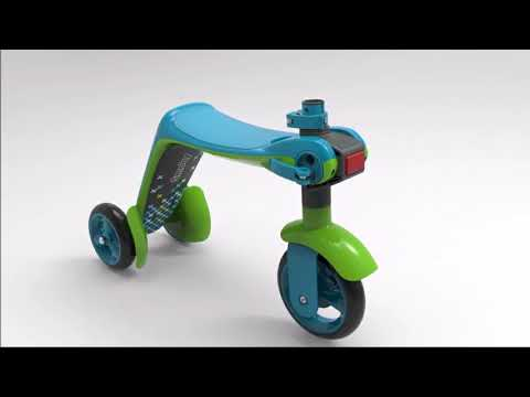 Smoby 2 in 1 Switch Scooter και Ποδήλατο Ισορροπίας - Ροζ