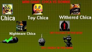 PLAY CHICA vs BONNIE !! Chica Simulator *MINI-GAMES*