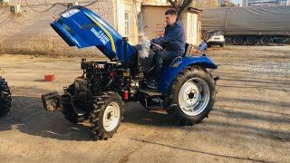 Новый трактор ДФ 244 (тест-драйв) на полном приводе от ДТЗ Украина