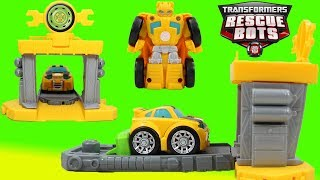 Transformers Rescue Bots BumbĮebee Flip Racers Quick Launch Garage!