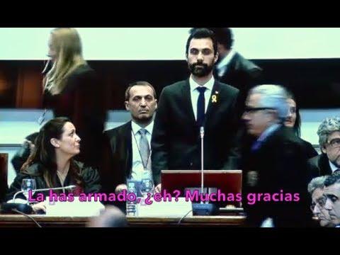 Espectacular zasca en vivo de los abogados catalanes a Roger Torrent