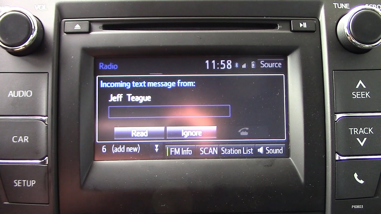 How To Pair Toyota Entune Text Messaging With Droid And