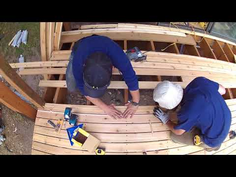 Building large outdoor stacked decks in Seattle