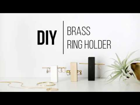DIY Brass Ring Holder
