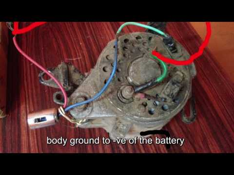 How to connect alternator to battery