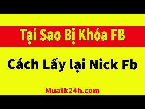 Cách lấy lại tài khoản facebook bị khóa -  Tại sao nick facebook bị khóa