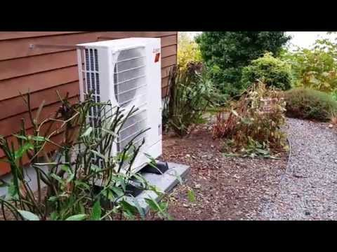 "Mitsubishi HYPER Heat Ducted ""STANDARD"" Heat Pump Install, Walkthru and Noise"