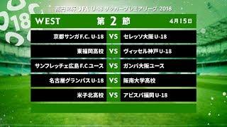WEST 第2節 ダイジェスト【高円宮杯 JFA U-18サッカープレミアリーグ 2018】