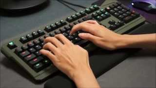 Max Keyboard Durandal G1NL Cherry MX Blue O-Rings Sound and Typing Speed Comparison