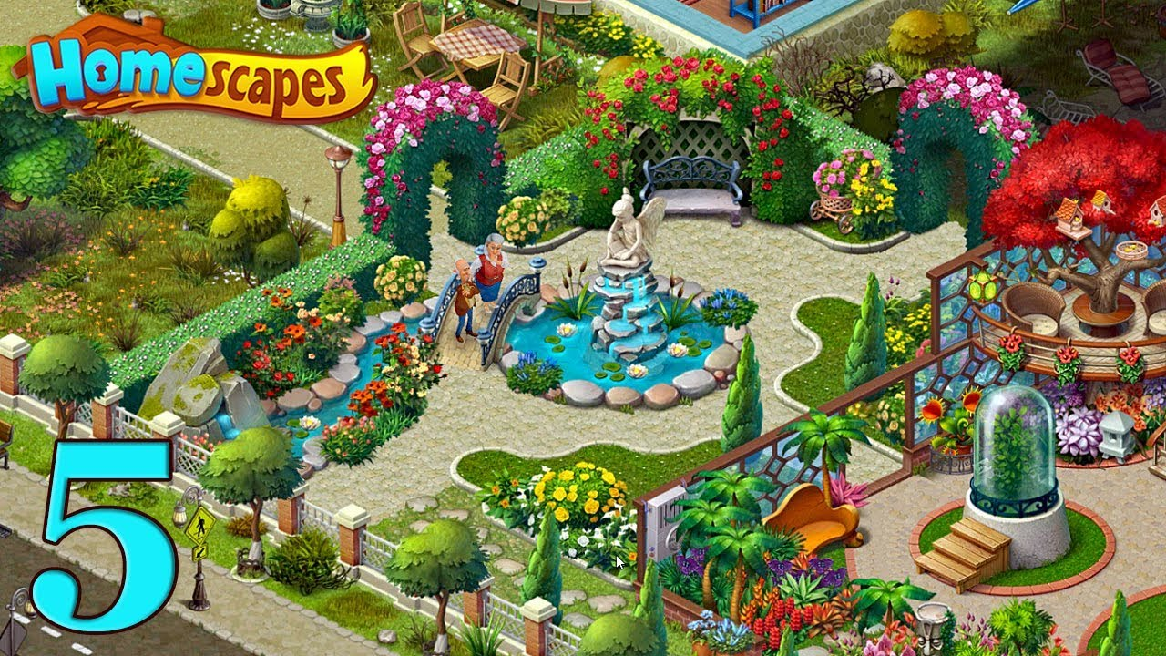 Knitting Story Homescapes : Homescapes gameplay story garden day Сад День youtube