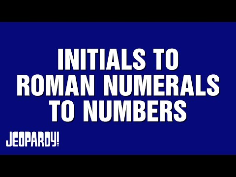 Jeopardy! | The Battle of the Decades | Ken Jennings Takes on INITIALS TO ROMAN NUMERALS TO NUMBERS
