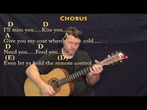 Grow Old With You (Adam Sandler) Guitar Lesson Chord Chart in A with Chords/Lyrics