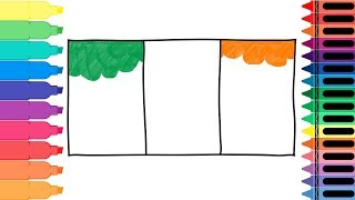 How to Draw Ireland Flag - Drawing the Irish Flag - Coloring Pages for kids | Tanimated Toys