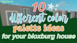 ROBLOX | 10 Different Color Ideas For Your Bloxburg House